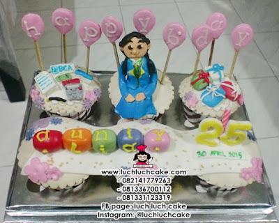 Cupcake Tema Pegawai Bank BCA