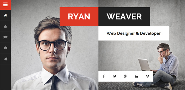 Divergent – Personal Vcard Resume WordPress Theme