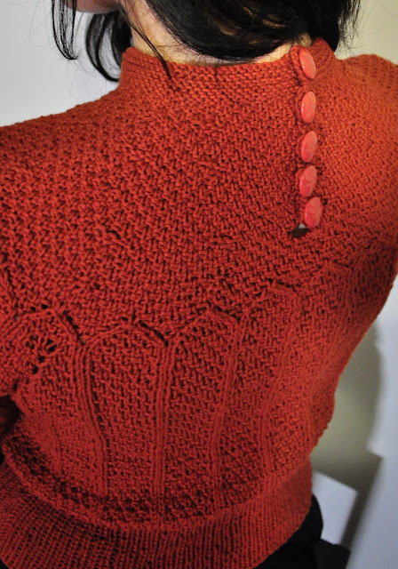 Orange 30s repro knitted jumper by Cherise