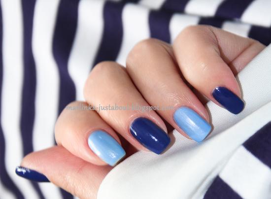 Ногти сине-голубые
