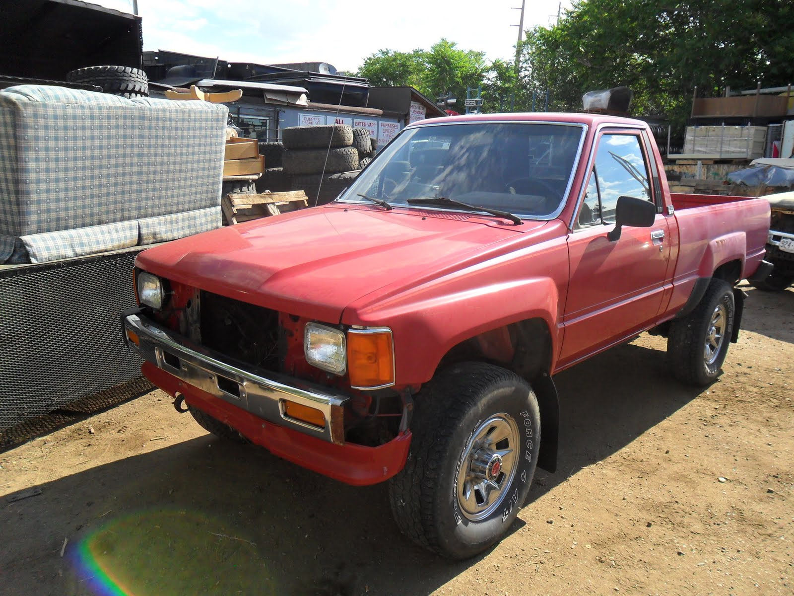 New arrivals at jim 39 s used toyota truck parts 1986 red turbo pickup 4x4