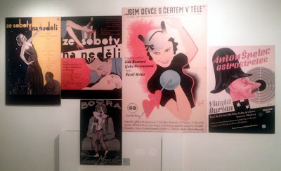Vintage film posters in Veletržní Palace, Prague