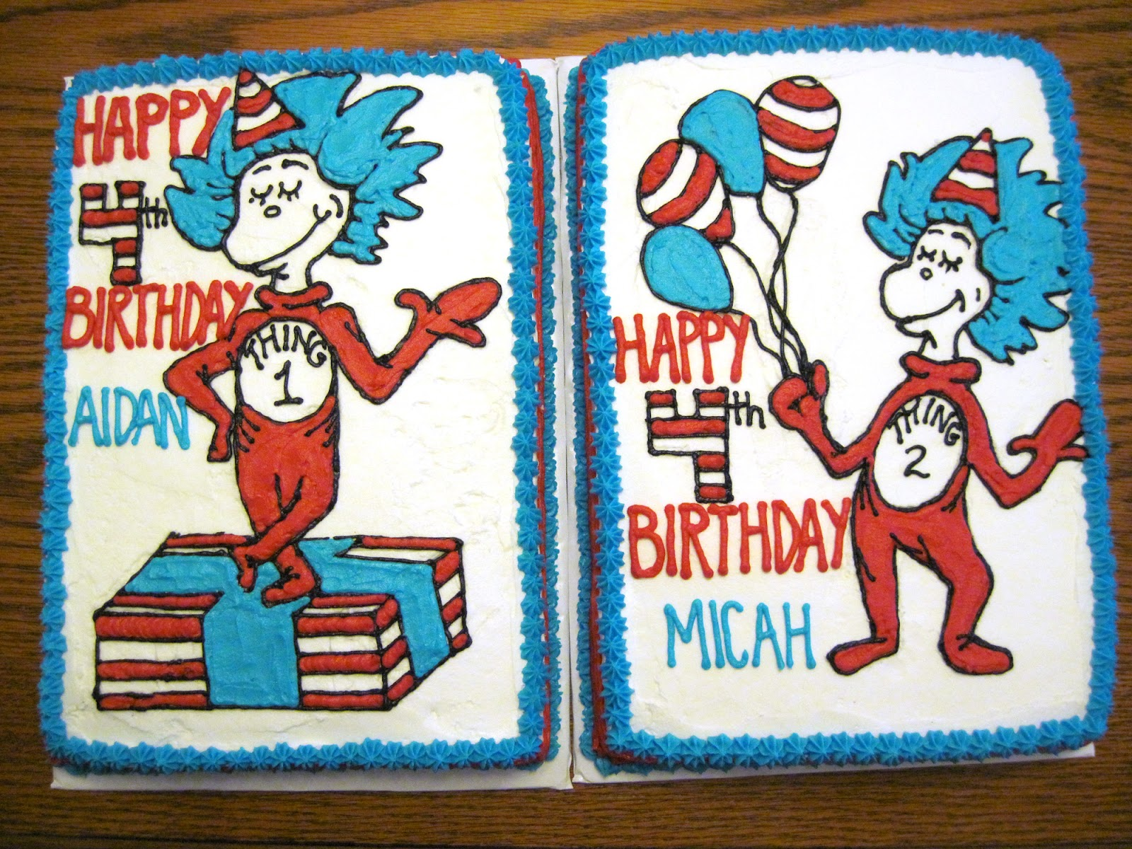 Erins Custom Cakes Thing 1 And Thing 2 Say Happy Birthday To You