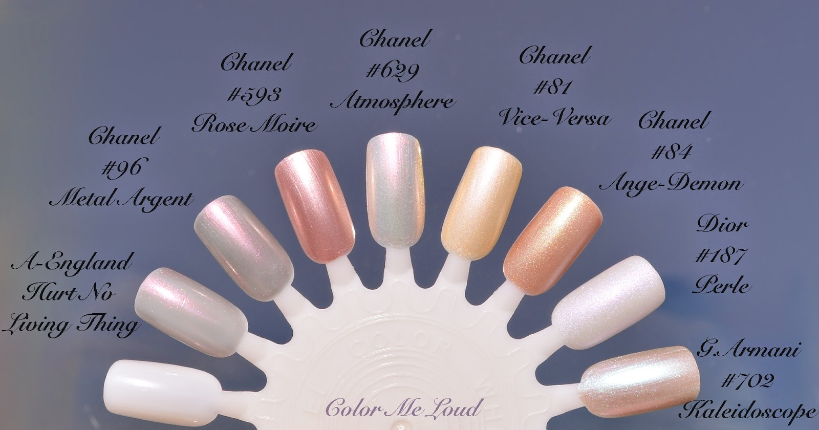 Chanel Le Vernis #625 Secret, #629 Atmosphere and #631 Orage from ...