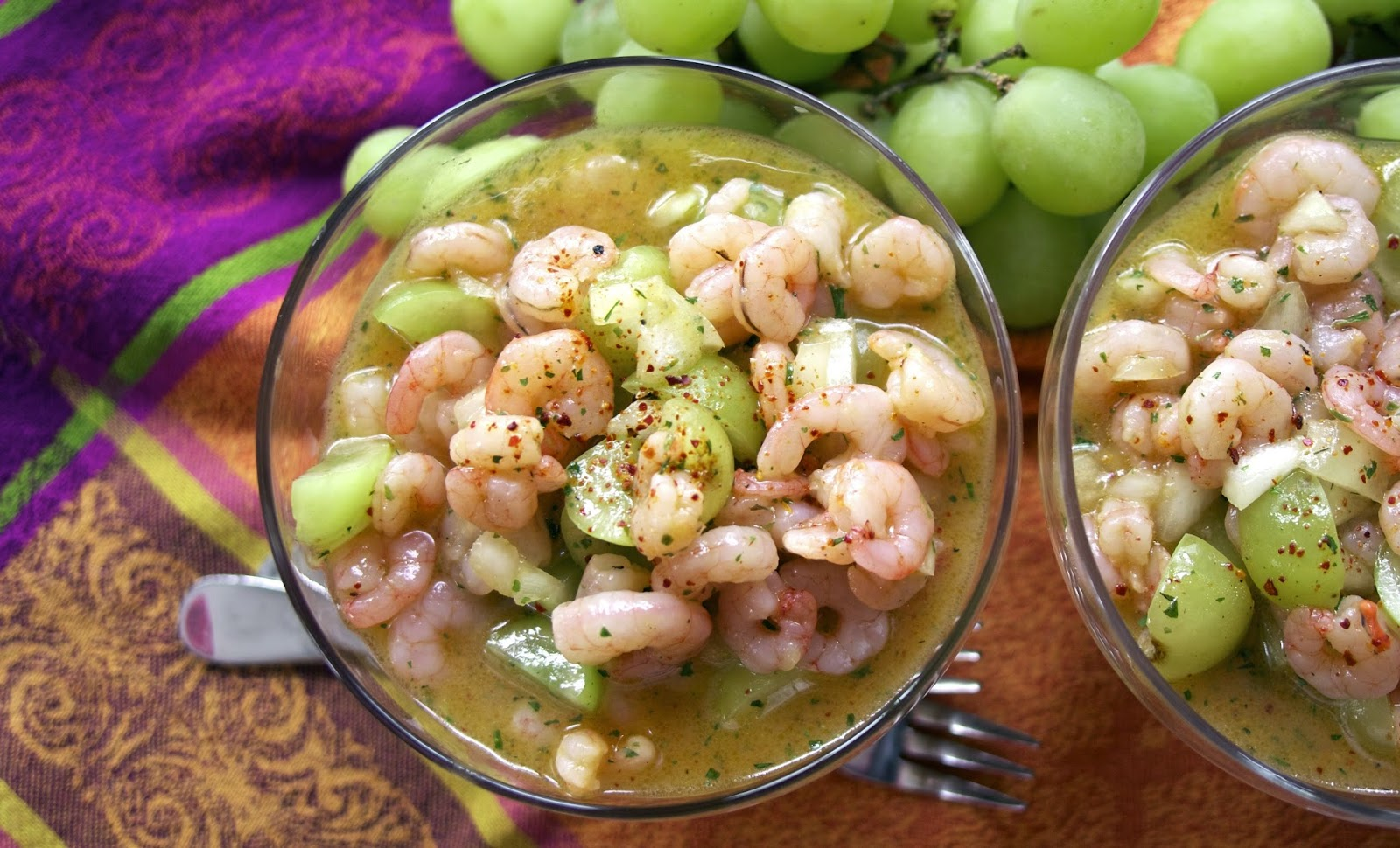 Shrimp Salad: Tarragon, Mango, Grape - simplelivingeating.com