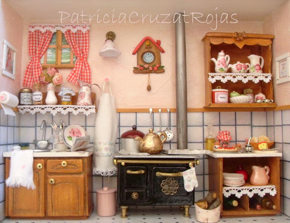 Patricia cruzat artesania y color cocina con miniaturas - Cocinas hechas a mano ...