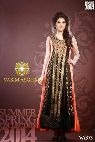 Vasim Asghar Summer Dresses 2014