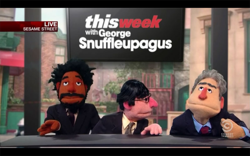 Daily Show cast as Muppets