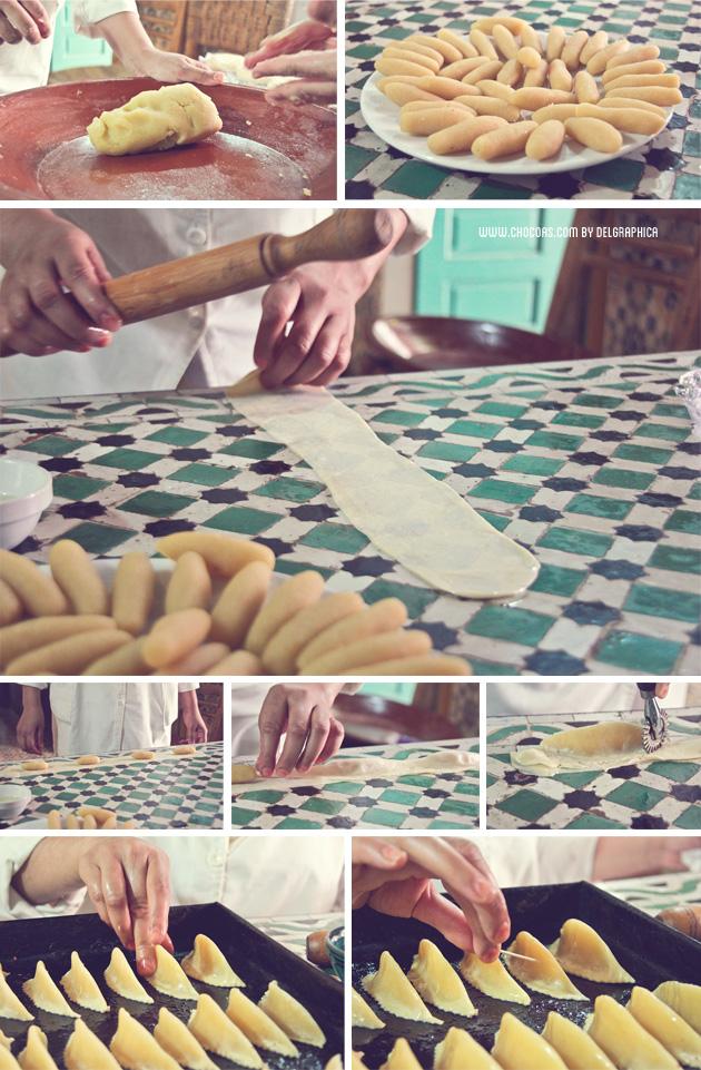 Marrakech taller de cocina - relleno corne de gazelle