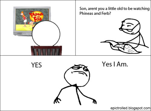tumblr_lqb5sg2ynH1qiu74bo1_500 phineas and ferb epic trolled funny pictures and comics