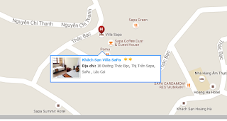 vị trí khách sạn villa sapa hotel
