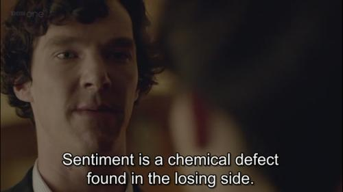 Sentiment is chemical defect found in the losing side