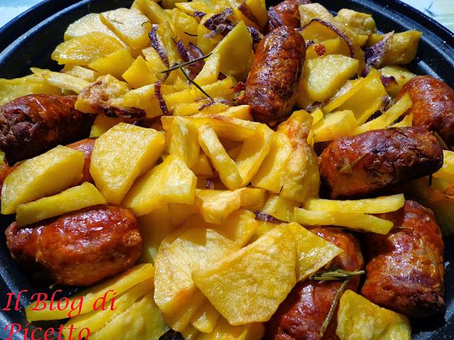 Il blog di picetto patate e salsicia al forno anche al - Forno tradizionale microonde ...