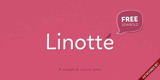 [Round Sans-serif] Linotte - Rounded Sans Family Việt hóa