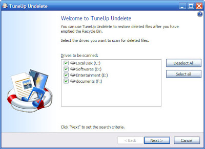 """this dialogue box will appear after clicking at """"Restore deleted file"""" button"""