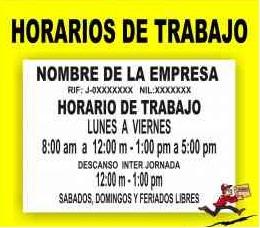 horario de trabajo venezuela: