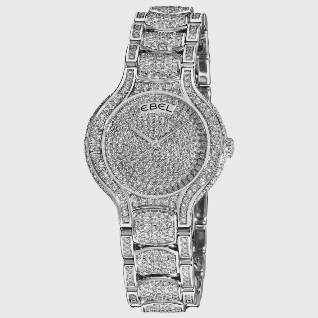 Silver Diamond Watch For Ladies, Full Of Diamonds on Dial
