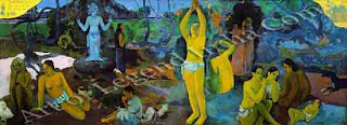 "The Great Artist Paul Gauguin Painting ""Where Do We Come From? What Are We? Where Are We Going To? 1897"" 54 ¾ x 14 ½ Museum of Fine Arts, Bostan"