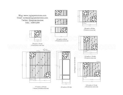 Protectores para ventanas y puertas, Fracc.Esmeralda Sur, Plano de