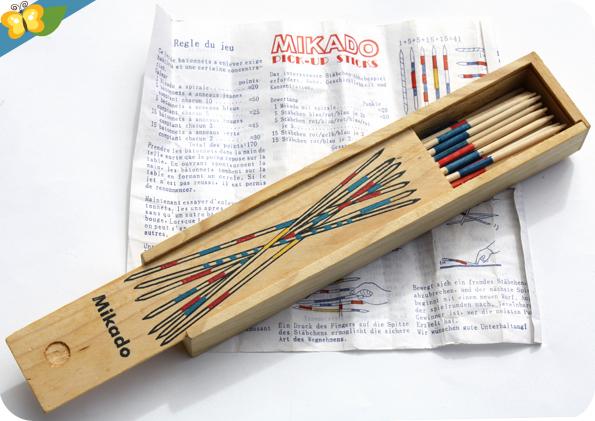 jeu en bois de Mikado