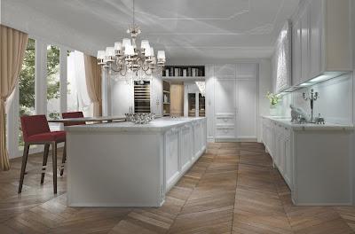 Interior Dapur dan Ruang Makan warna putih