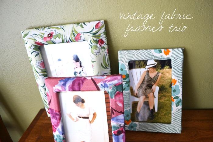 miskabelle vintage: DIY: Vintage Fabric Frame Trio