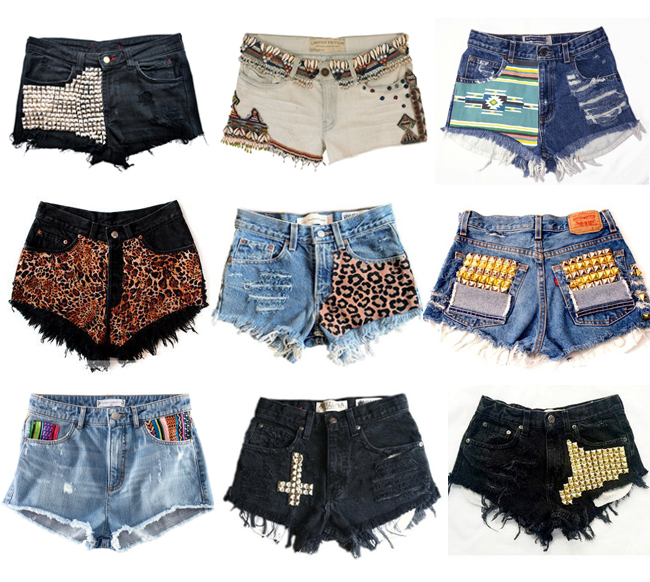guilty of glamour: Get Creative With Your Jean Shorts