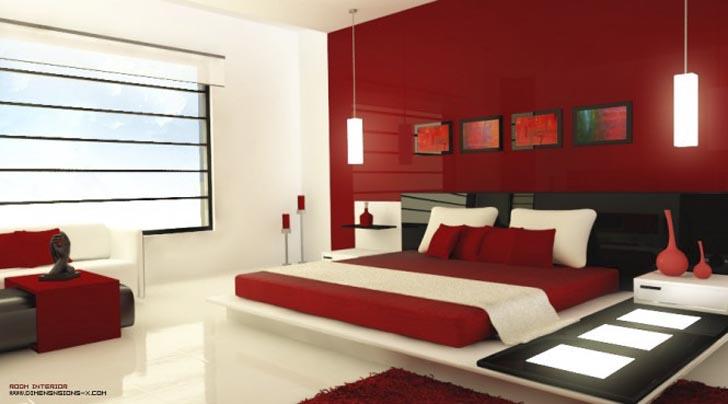 Red Interior Designs Picture :