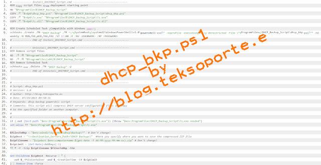 SCCM 2012 Backup DHCP Server PowerShell script