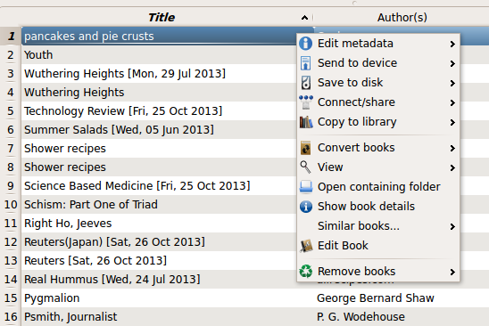 Calibre tips and tricks calibres ebook editor to edit an epub or azw3 format ebook in calibre just select the ebook in the main calibre window and right click as you can see in the picture below many fandeluxe Epub