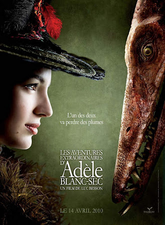 Poster Of The Extraordinary Adventures of Adèle Blanc-Sec In Dual Audio Hindi French 300MB Compressed Small Size Pc Movie Free Download Only At worldfree4u.com