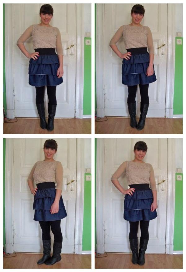 30 Kleidungsstücke für 30 Tage ergeben 30 verschiedene Outfits Tag 5