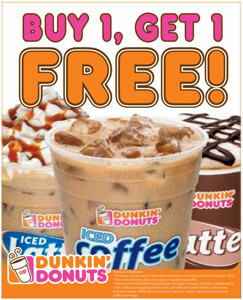 If Dunkin Donuts is your favorite place when you're hungry, you're going to want to make sure you have one of their 20 coupons for December. More new deals are being added every day, making your savings possibilities endless.