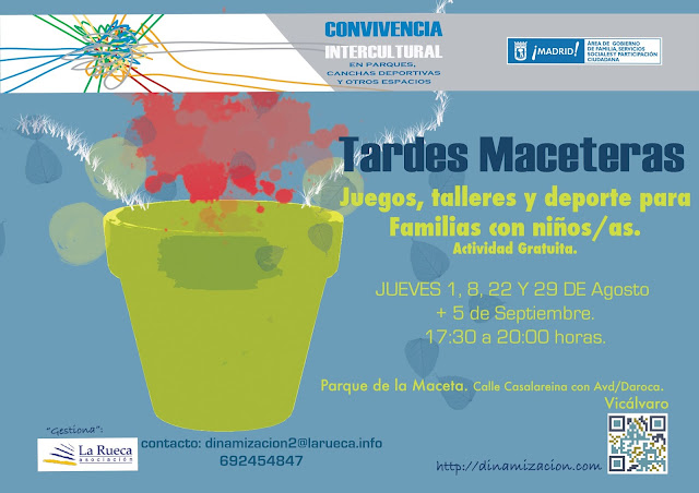 Tardes maceteras en agosto, Vicálvaro: Actividades para todos