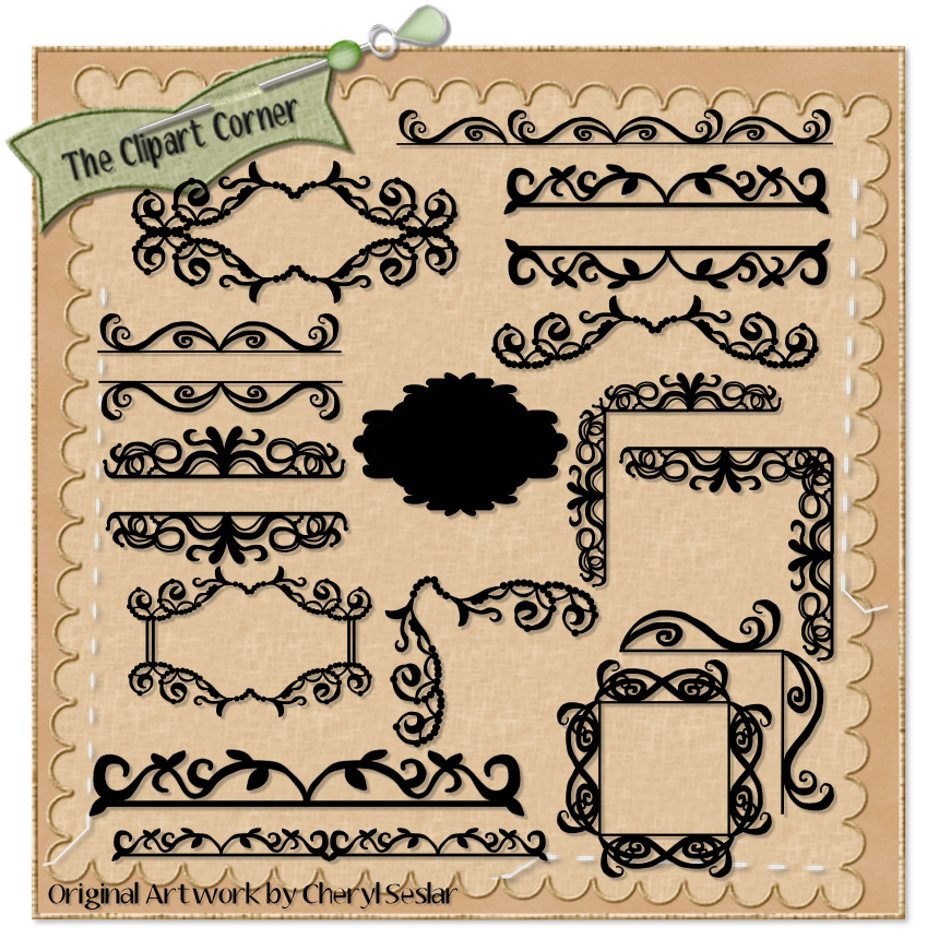 Fancy Corner Border Design Fancy Corners And Borders
