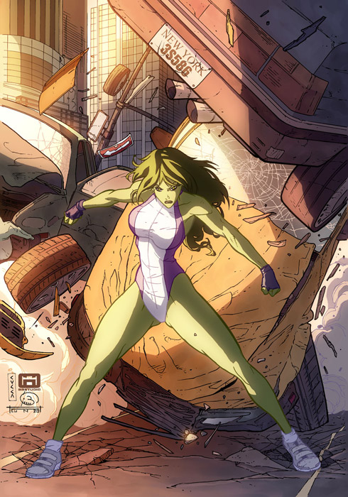 She Hulk por cuccadesign