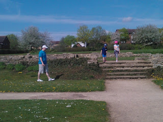 Daddy, Top Ender and Big Boy at the Roman Villa Ruins Milton Keynes