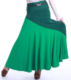Skirt Labuh Kembang Umbrella 655 - Green
