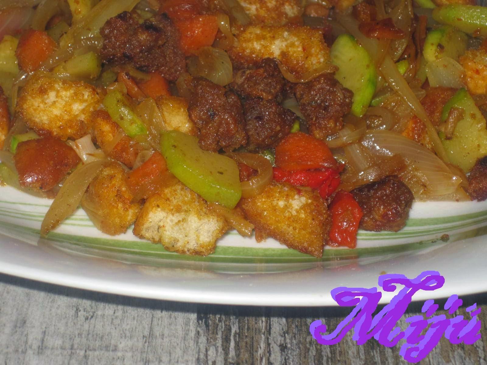 El bocado de la huerta wok con soja texturizada for Cocinar soja texturizada