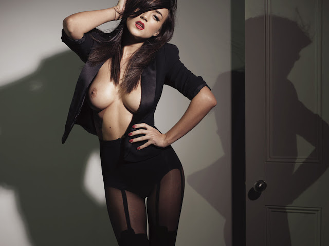 Rosie Jones Topless And Naked For Nuts Photoshoot