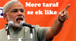 Narendra Modi Facebook Comments Pics