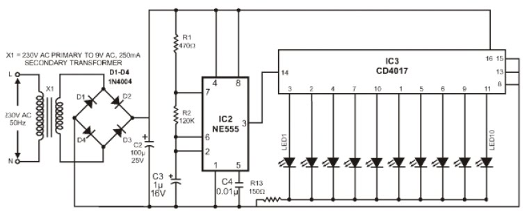 loadedcircuit com  sequencer output led