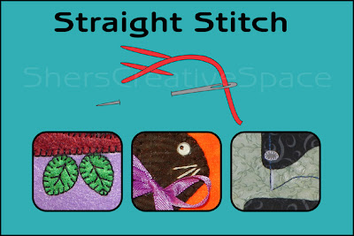 straight stitch, straight stitch tutorial, applique tutorial, sewing tutorial, embroidery tutorial
