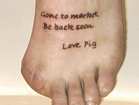 girly tattoos on feet