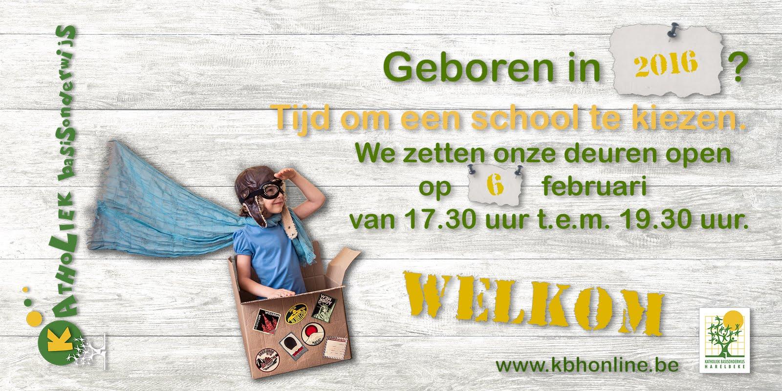 Inschrijven geboortejaar 2016 - inschrijven kan vanaf 5 maart