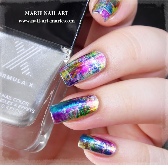 nail art dry brush infinite ombré1