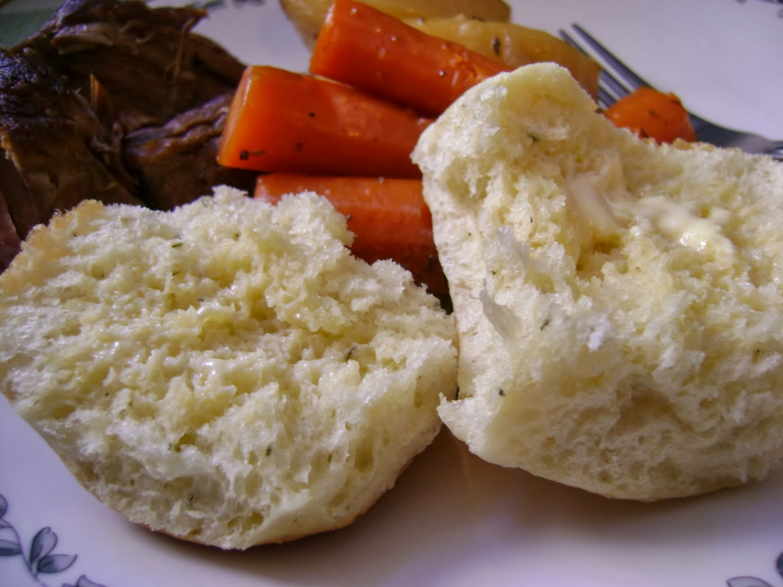 bread machine garlic rolls