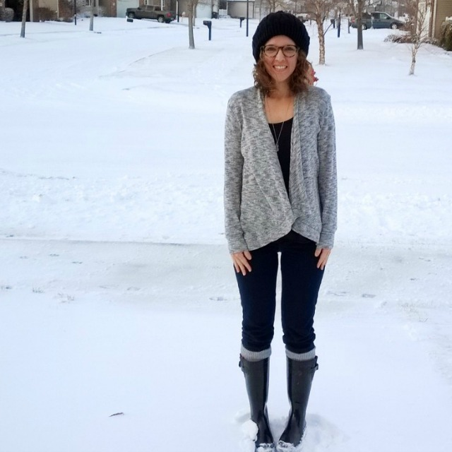 simple winter outfit, waiting for the next season