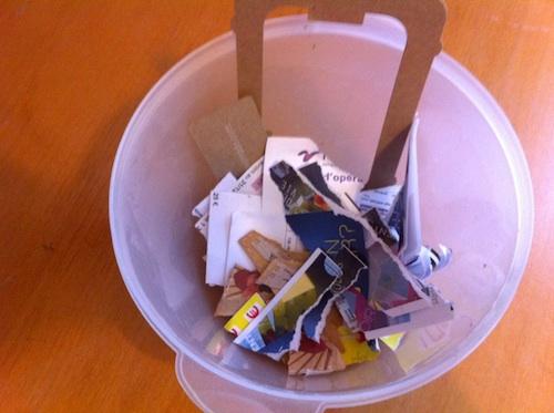poubelle à compost de cuisine