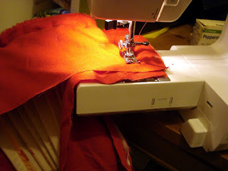 sewing with cardboard